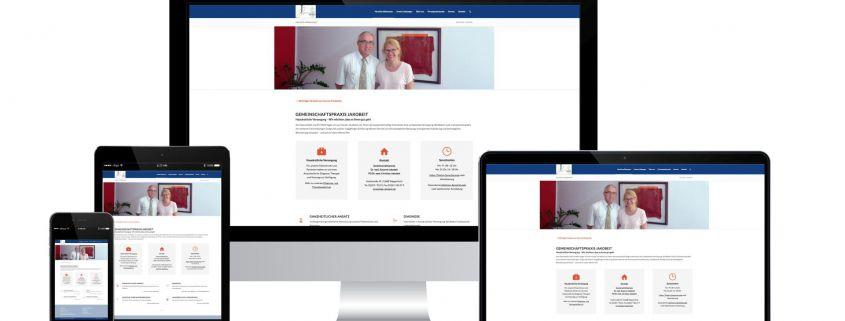 Website Gemeinschaftspraxis Jakobeit