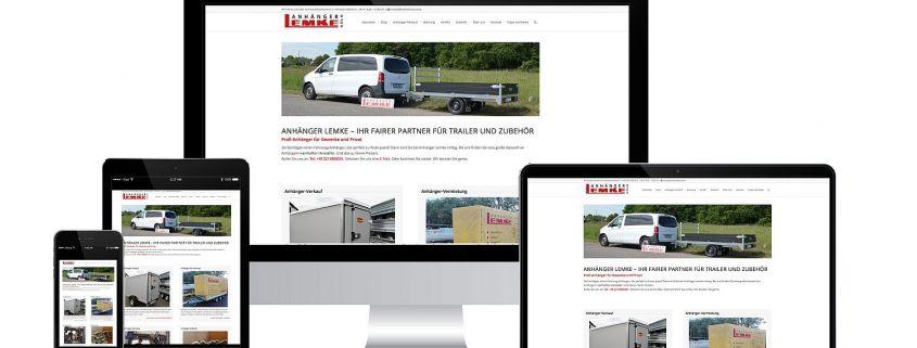 Neue Website für Anhänger Lemke